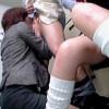 【盗撮】万引き犯したJKの母親を呼びつけて娘の前で口内射精の刑に処す閻魔店長♪