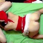【盗撮】彼女にサンタコスプレさせてクリスマスセックスを隠し撮りするゲス野郎♪