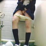 【盗撮】女子校生たちの和洋折衷なトイレ風景を撮り溜めた便所コレクターのお宝映像♪
