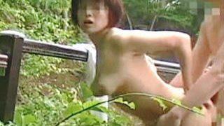 【盗撮】不倫旅行先の混浴露天風呂でのハメ撮り映像を流出させちゃった痛い熟年カップル♪