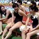 【盗撮】競泳大会に出場中の水着女子たちを赤外線撮影したり色々やってる大会関係者♪