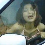 【盗撮動画】梅雨時の車中で真昼間からカーセックスしてるアバズレさんを遠慮なく覗き撮り♪