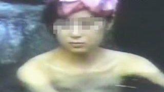 【盗撮動画】有名温泉露天風呂を覗いたら卓球のAIちゃん似の女の子が入浴してますた♪