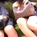 【盗撮動画】対面に座ってる女子のパンチラを撮るために半日以上は電車に乗ってる傍迷惑な撮り鉄♪