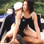 【盗撮】何かと話題の水泳界で新たな不祥事発覚?アスリートカップルの野外性行為を大スクープ♪