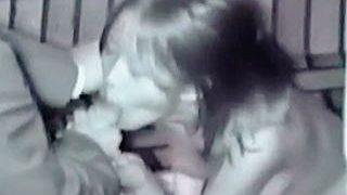 【盗撮】野外セックスのフィニッシュは全裸になって口でザーメン搾ってくれる天女のようなドレス女子♪