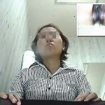 【盗撮】ライバル女子社員の策略で会社のトイレでオシッコしてる姿を晒されたキャリアウーマン♪