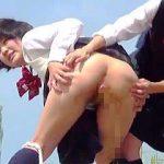 【閲覧注意】不法侵入野ションや浣腸注入野外脱糞などやりたい放題な港町の女子校生たち♪