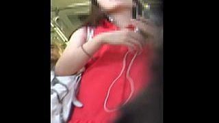 【盗撮】赤ワンピ女子にカメラをぶち込んだら風俗店みたいな異空間にパンツがありますた♪