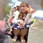 【盗撮】ズッコケパンチラや連続スカメクパンチラしゃがみパンチラとパンチラ祭り絶賛開催中♪
