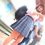 【盗撮】撮り師と触り師がタッグを組んだ痴漢コンビに潮吹かされたバス通学の女子校生♪