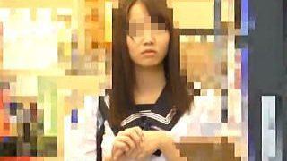 【盗撮】電車で痴漢魔に中出しレイプされた純白パンティが良く似合うセーラー女子校生♪