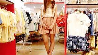 【盗撮動画】洋服屋のギャル店員には何故かパンチラ逆さ撮りもグイグイやっちゃう件♪