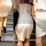 【盗撮動画】Pラインを浮き上がらせて艶めかしい淫尻をくねらせながら歩いてる淑女たち♪