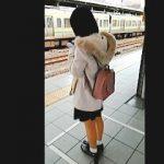 【盗撮動画】パンチラターゲットの私服JCっぽい女の子を追跡したら痴漢被害が撮れちまった♪