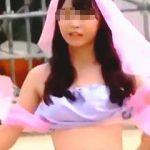 【盗撮動画】体育祭のコスプレ応援でダンス中にブラチラしまくって集中できない赤面女子校生♪