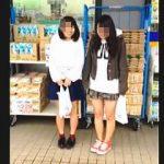 【盗撮動画】スーパーで買い物してる発育途上のJCっぽい女の子たちのダブルパンチラ♪