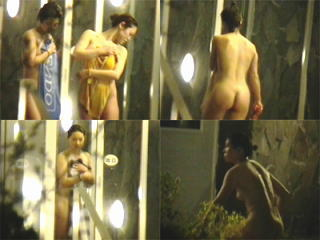 続々と入浴に訪れる乙女達の裸体を暗撮!