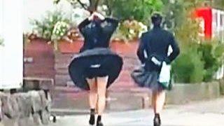 【盗撮動画】女子校生の風パンチラには一瞬の儚さと遭遇できたことへの幸福感に満ちている♪