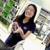 【盗撮動画】笑顔で愛想よく接客してくれるエキゾチックな店員さんに逆さ撮りアタック♪