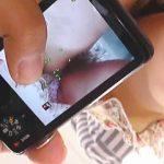 【盗撮動画】不気味なほど静かな店内でアウロリちゃんの萌えパンチラをフラッシュ撮影♪