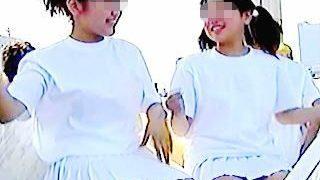 【盗撮動画】若さ溢れるチアダンスCちゃんたちを狙うおっさんカメコたちと目的は同じなオレ♪