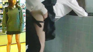 【盗撮動画】悲報!コスメショップで見かけたJKが痴漢に立ちバックでレイプされてますた♪