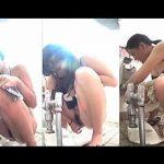 【盗撮動画】海水浴場の女子トイレで密かに開催されている激戦必至の女子放尿選手権♪