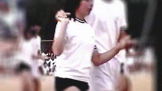 【盗撮動画】相手の男子がフル勃起したあん時の体育祭での甘酸っぱいブルマーフォークダンス♪