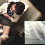 【盗撮】下校途中に立ち寄った公衆トイレがうるさかったのでコレ幸いとオナニーおっ始めた制服JK♪