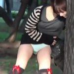 【盗撮動画】真昼間から公園で酒盛りしてる女子が酔っ払ってお漏らしして手に負えない状態に♪