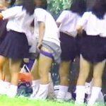 【盗撮動画】チアダンスの大会が開催されてる付近の公園ではJKたちが集団生着替えを晒しまくりな件♪