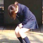 【盗撮動画】偽アンケートのお礼に利尿剤を飲まされて立ちお漏らししちゃったムッチリ女子校生♪
