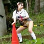 【盗撮】お嬢様学校に通学する女子学生が下校途中に何度もド変態な野外オナニー晒してますた♪