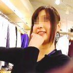 【盗撮】ショップの店員さんに無理難題持ちかけて漆黒のスカートの中身を丸裸にした撮り師♪