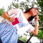 【盗撮動画】お尻をプリプリさせて歩いてる女の子たちを逆さ撮りしてるストリート系撮り師♪