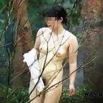 【盗撮動画】大自然の木々に囲まれた覗き放題の露天風呂で全裸入浴してる淑女たちを隠し撮り♪