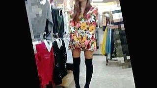 【盗撮】サイケデリックファッションのド派手な店員さんのパンティは意外にもアレだった件♪
