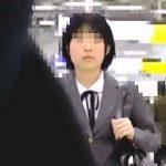 【盗撮動画】幼顔のガチ素人制服女子校生が電車で痴漢魔にガチ痴漢されてガチイキしてますた♪