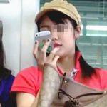 【盗撮動画】電車の対面で本物のパンチラ晒して煽って来る生脚ミニスカサンダル女子♪