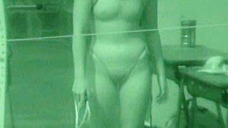 【盗撮動画】ムチムチの肉感ボディを紫外線カメラで丸裸にされたデカ尻女子校生競泳部員♪