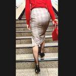 【盗撮動画】タイトスカート女子のプリプリのプリケツ眺めるだけで十分オカズになる件♪